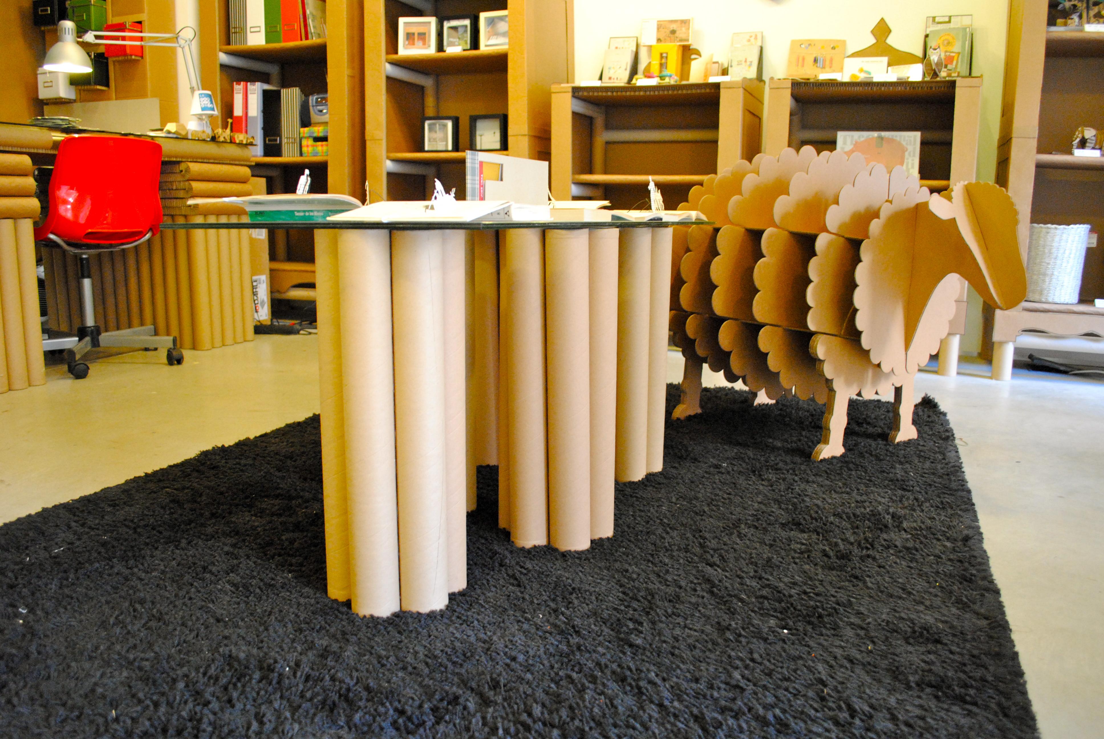 Muebles con tubo de carton 20170811213951 - Mesas de carton ...