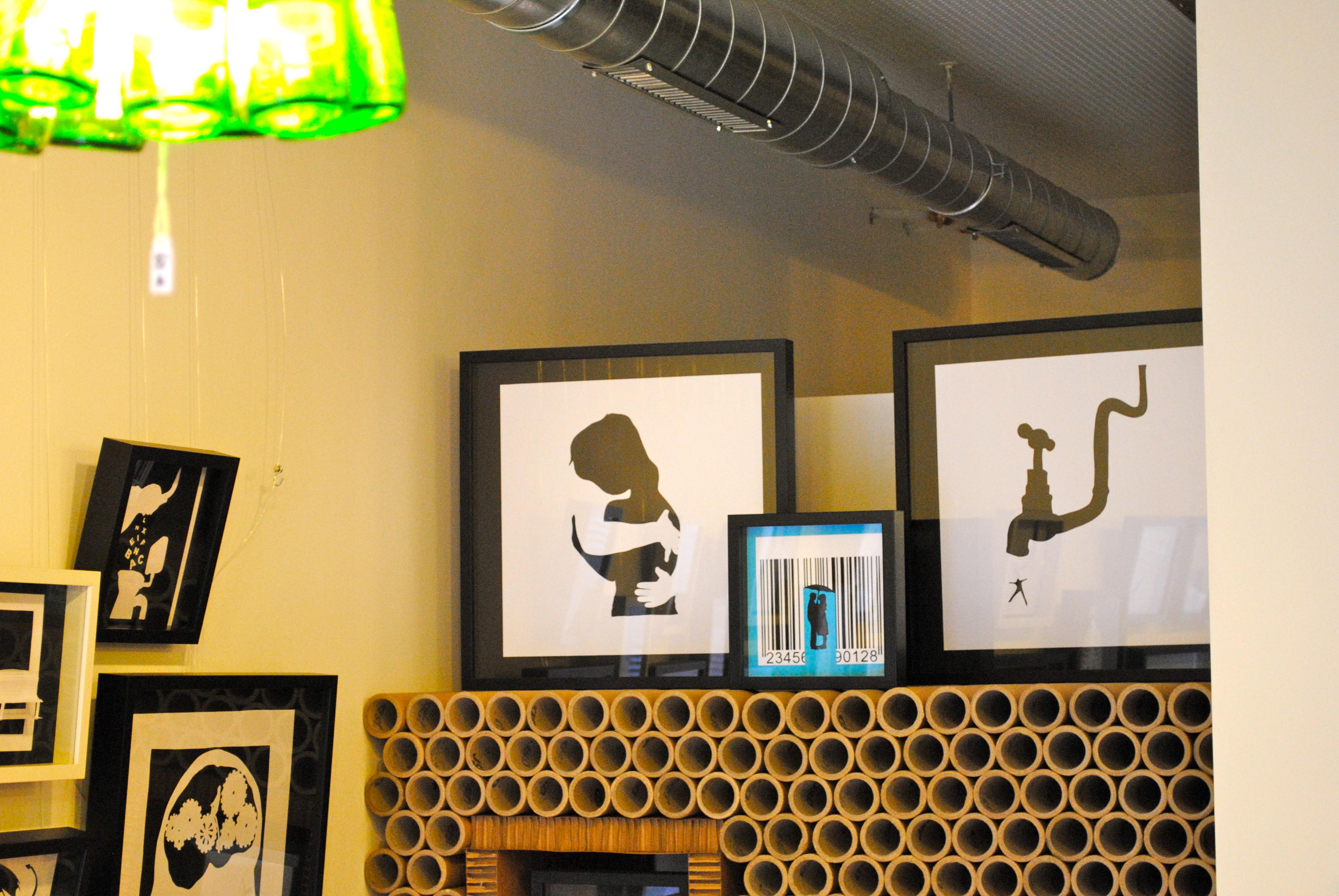 Mueble de tubos de cartón « LA CARTONERIA