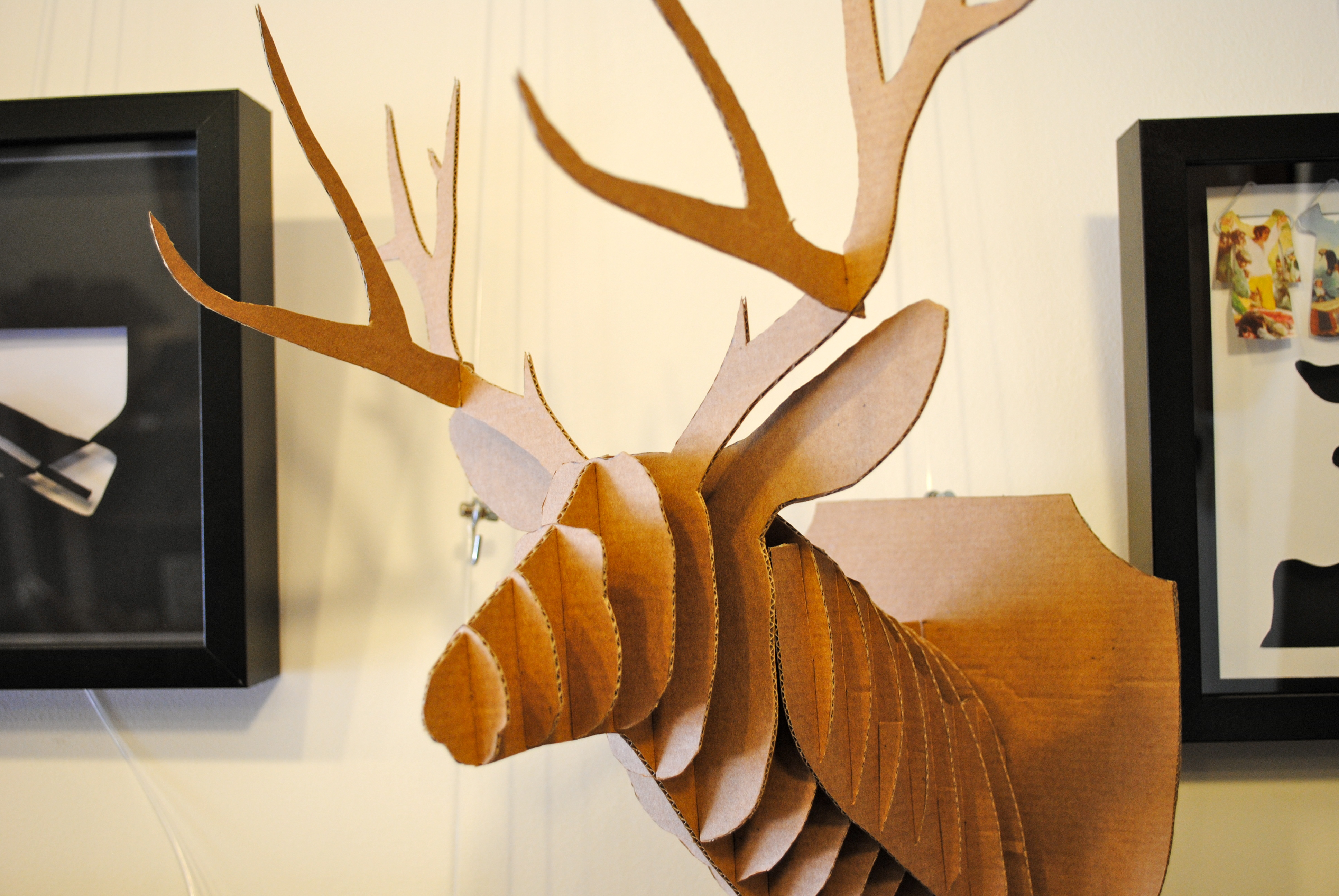 Cabeza de ciervo en cart n ii la cartoneria - Cabeza ciervo carton ...