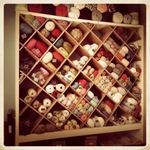 organizador de lanas