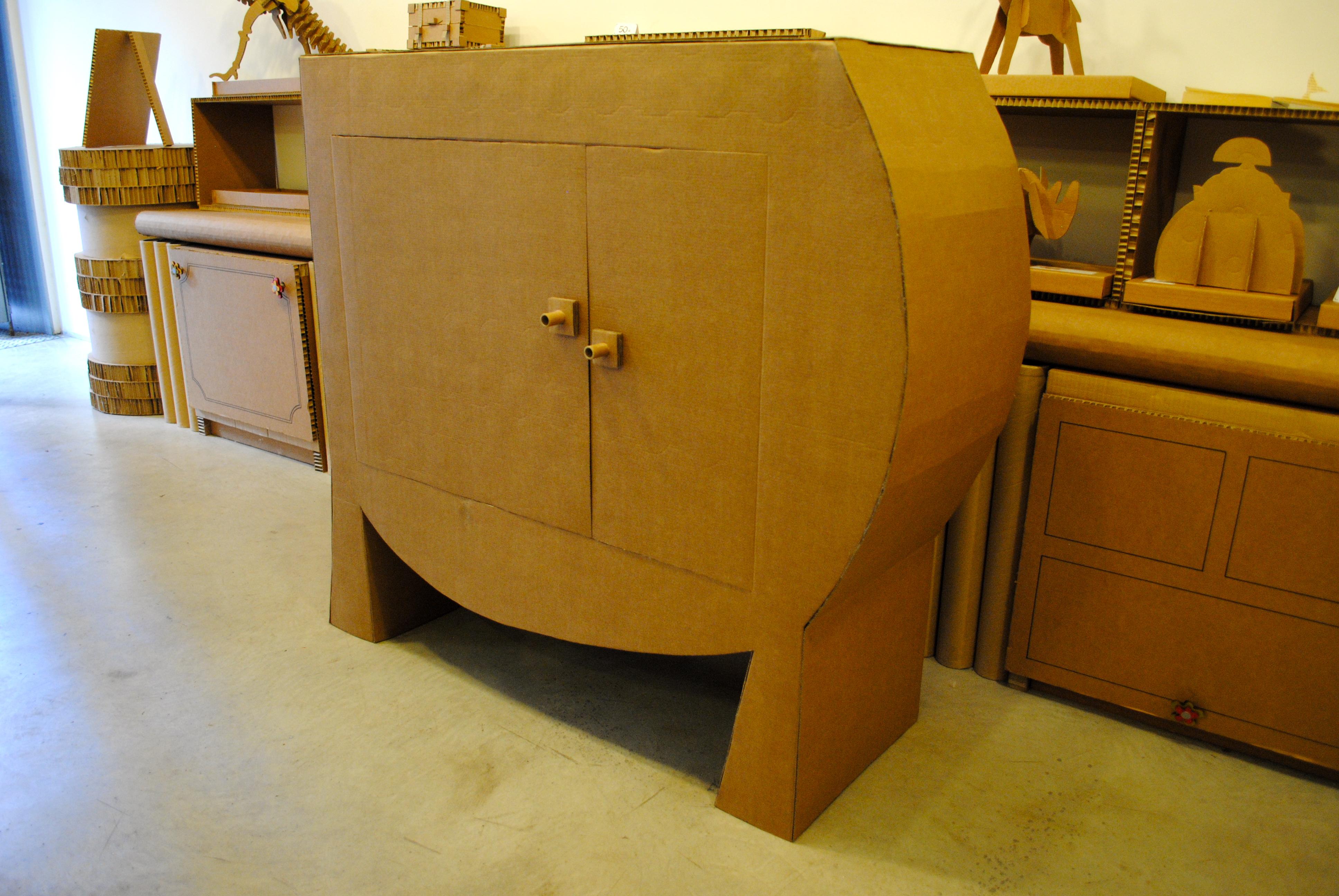 Carton Reciclado La Cartoneria # Muebles De Tubos De Carton