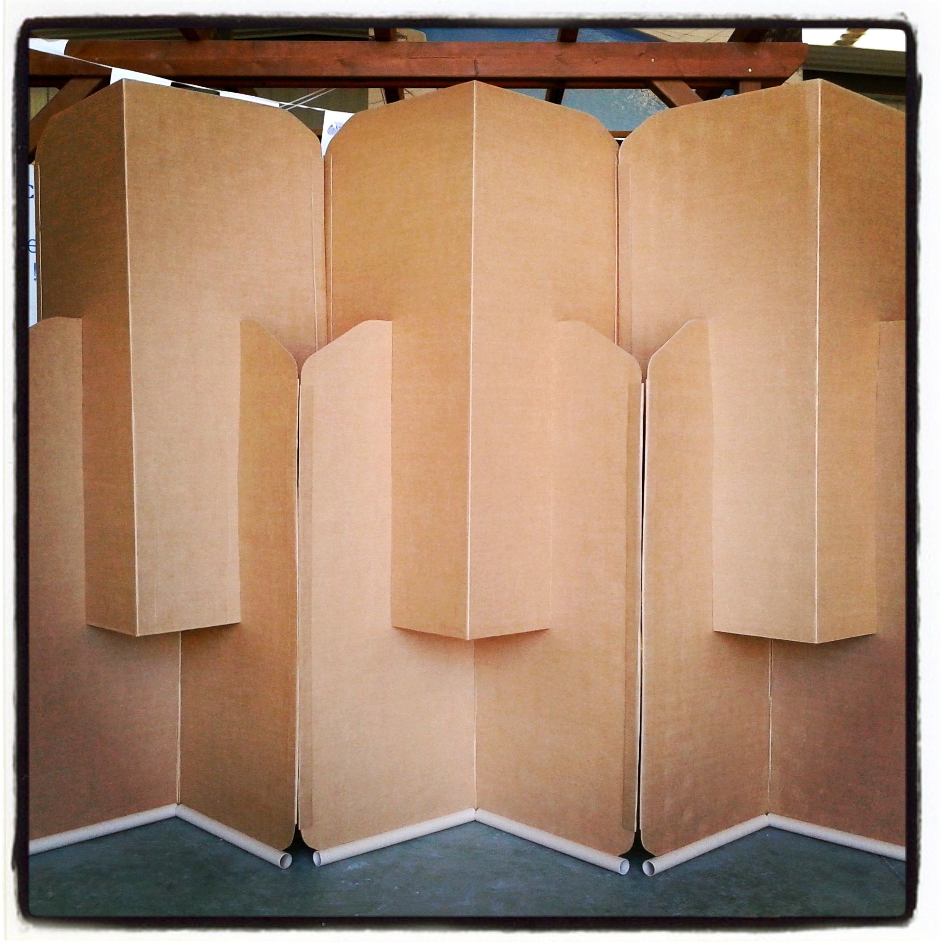 Biombo de cart n la cartoneria - Biombo de carton ...