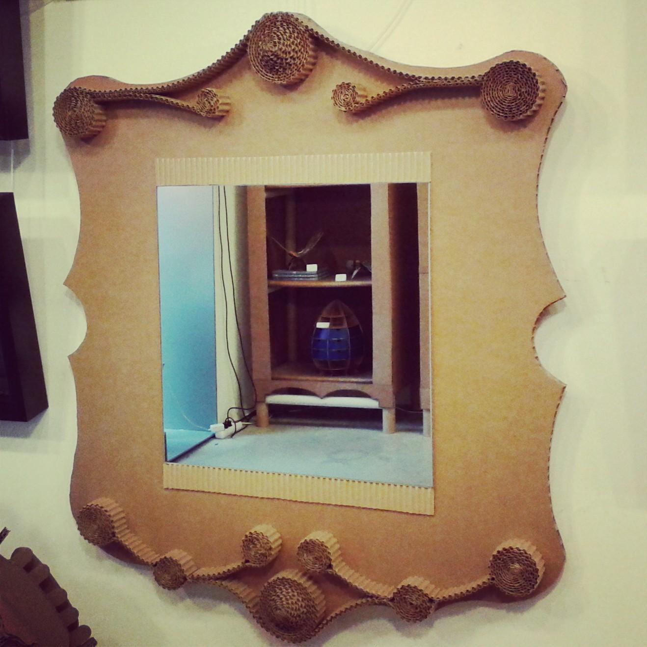 Hacer un marco para un espejo espejo con marco metalizado - Hacer marcos para espejos ...