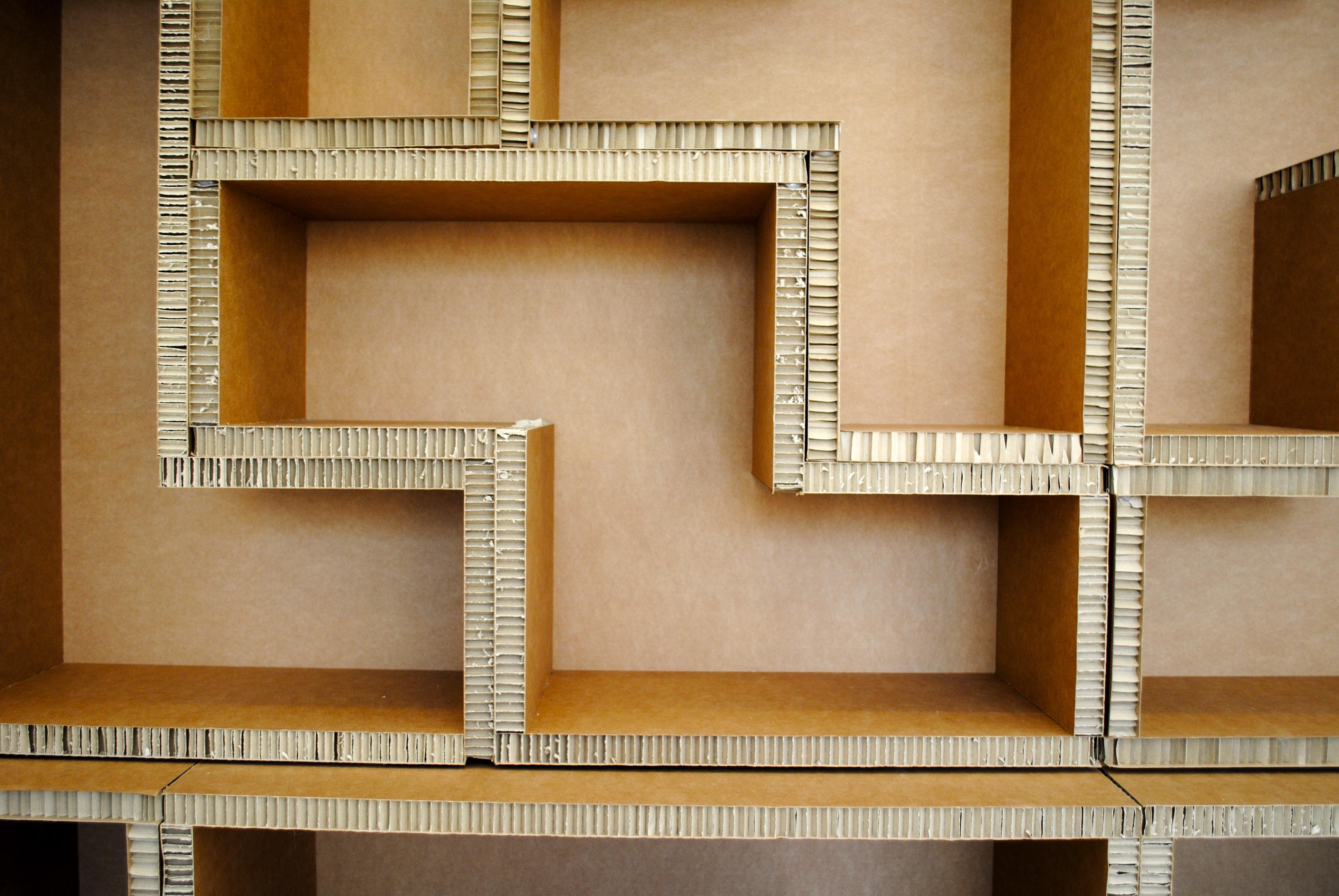 Estanter A Tetris La Cartoneria ~ Estanterias De Carton Reciclado